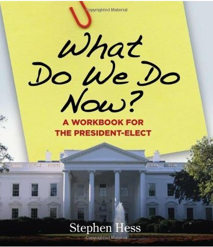 what do we do now a workbook for the president elect